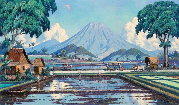 Leo Eland (Java, 1884 – 1952) - Padi.