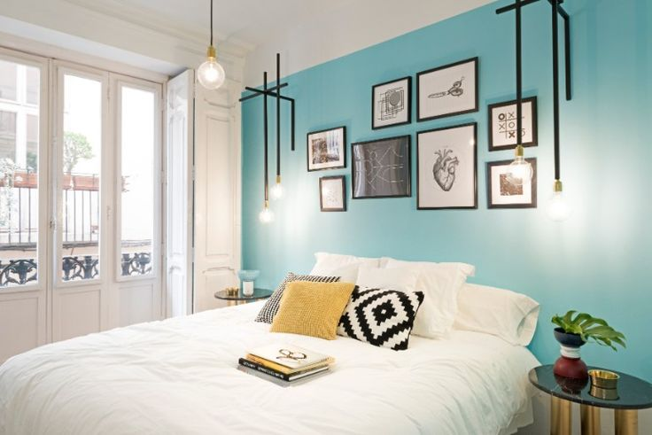 Discover this gorgeous bedroom design project by Masquespacio   www.masterbedroomideas.eu #bedroominspiration #bedroomideas #modernbedrooms #colorfulbedroom #bedroomcolors #vividbedroom