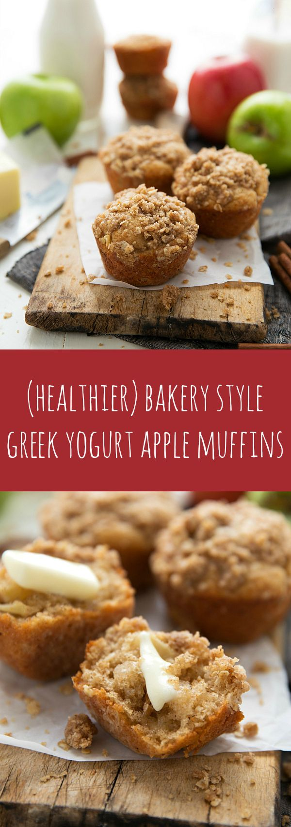 NO butter in these muffins! Plus lots of healthy swaps and still the great taste and texture of a bakery style muffin thanks to this secret ingredient!
