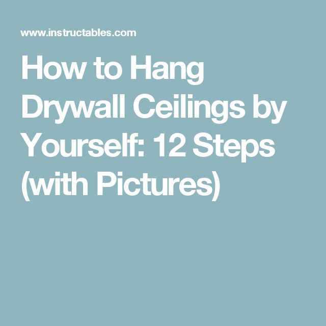 how to hang and finish drywall