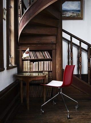 spiral staircase bookcase nook home garden pinterest. Black Bedroom Furniture Sets. Home Design Ideas