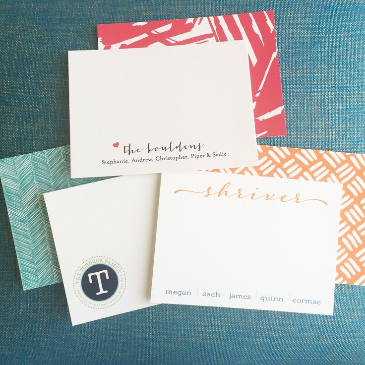 Personalized stationery for the whole family! #personalizedstationery #stationery #inkofct