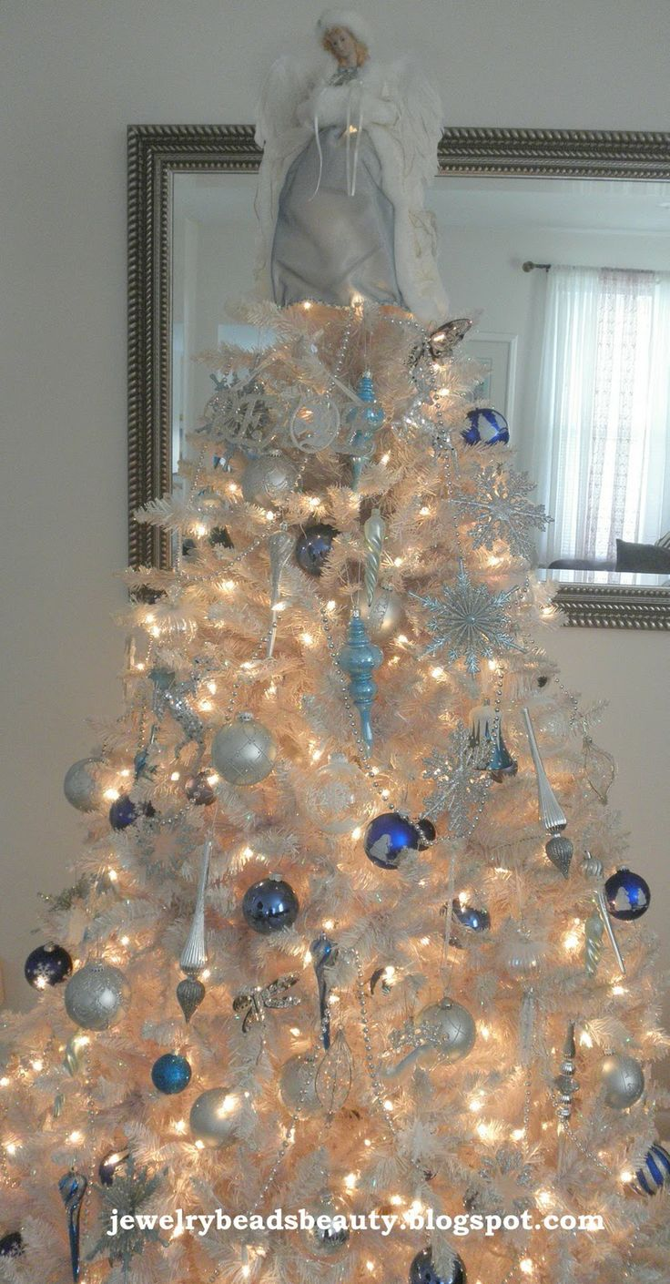 Non traditional christmas tree ideas - I Wanted To Share My White Christmas Tree Yes It Is A Bit Nontraditional But It Brings Me So Much Joy To See This Little Baby Each Year