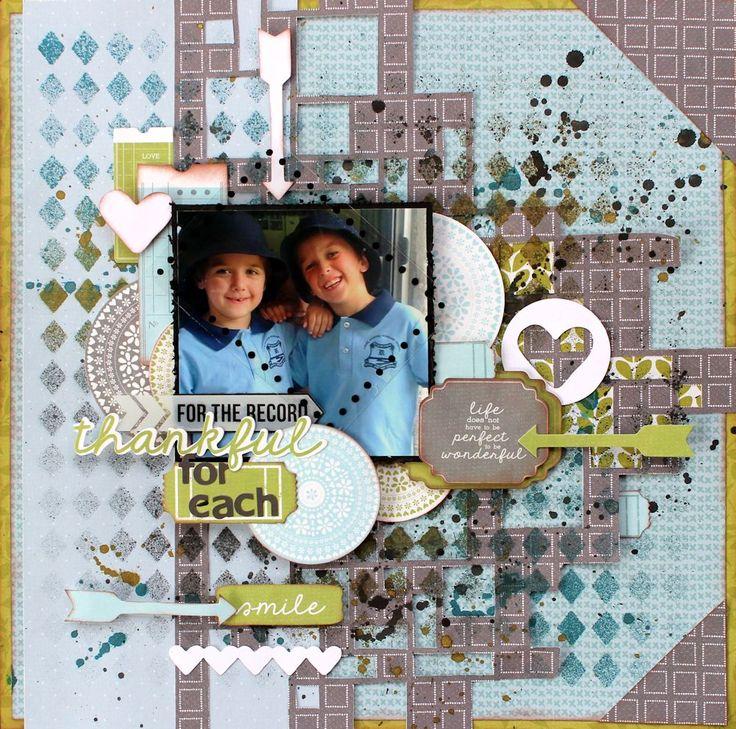 """Brothers"" Layout by Alison Bevis DT Kaisercraft new June Collection 'Secret Garden' - Wendy Schultz ~ Scrapbook Pages 3."