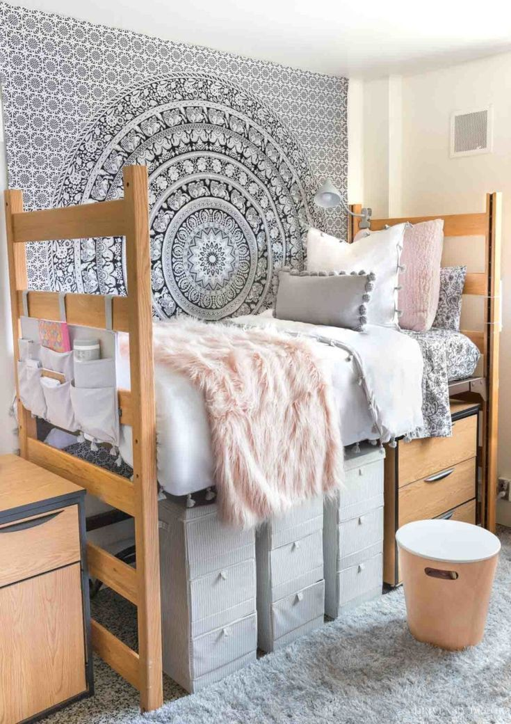 Dorm Room Ideas For Girls From Our Before After Dorm Room Makeover Driven By Decor In 2020 Dorm Room Decor College Dorm Room Decor Girls Dorm Room