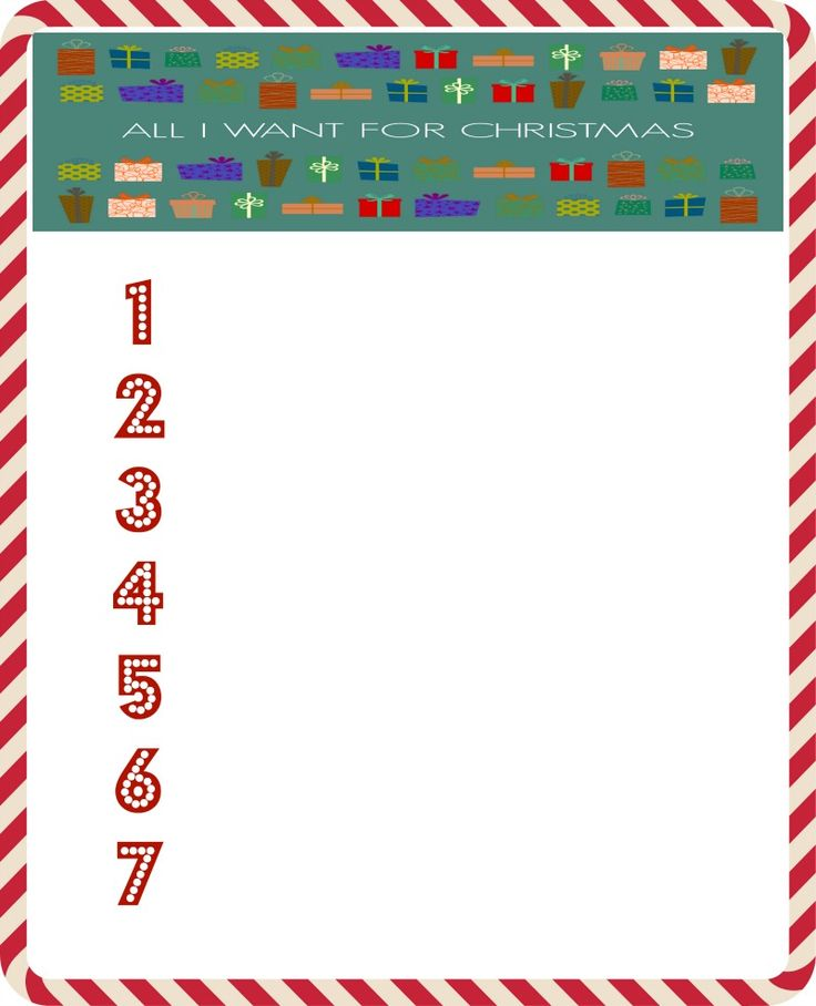 177 best Free Christmas Printables images on Pinterest Coloring - christmas wish list form