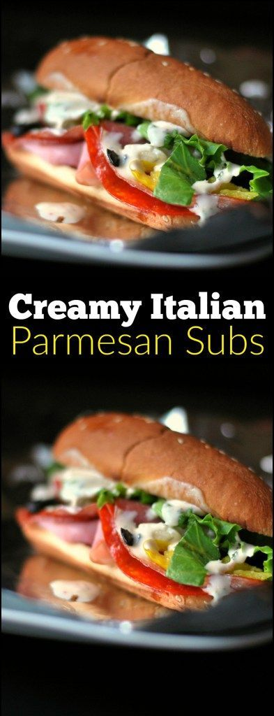 The Creamy Italian Parmesan Dressing is the secret ingredient that REALLY knock these Baked Italian Subs out of the park!  We could not stop oohing and ahhing in between bites!  SO GOOD!