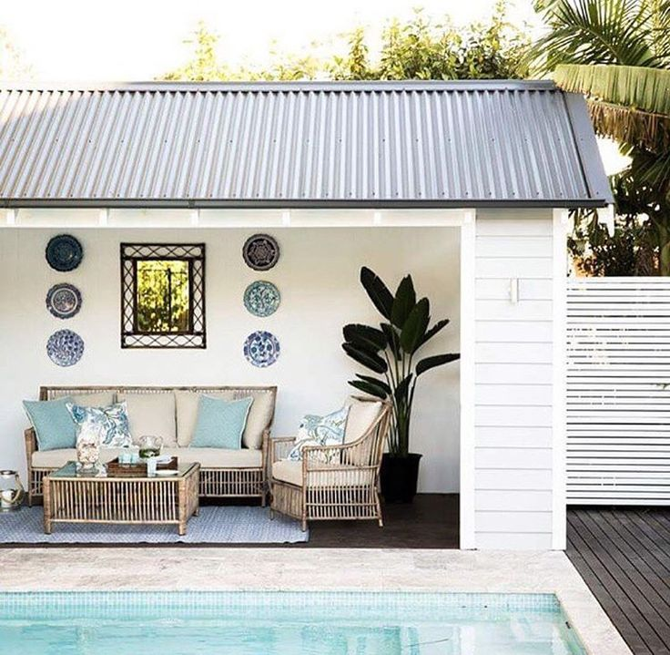 I am definitely having a pool house when we put a pool in - via threebirdsrenovations