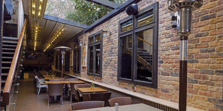 External bar project using the Sunset Blend of brick slips