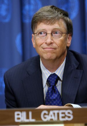 Get the Basic Facts on Microsoft Founder Bill Gates: Microsoft co-founder Bill Gates listens during a press conference to launch a plan aimed at saving 10 million mothers and newborns in the poorest countries