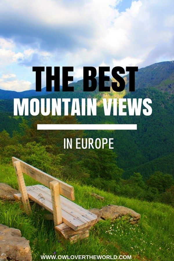 So, you love the mountains, perfect! Do you also love amazing mountain views? Of course, you do.  Wondering where to find the best mountain views in Europe? You've got to the right place. Let me show you! Best mountain view in Europe / Best mountain views / Best views in Europe / Mountain views in Europe / Mountain lovers / Europe mountains / Travel tips / Travel bloggers tips / Mountain views / Nature Europe