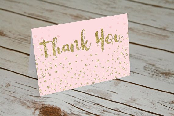 Twinkle Twinkle Little Star Thank You Cards. Baby Thank Yous.