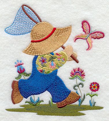 Fisherman Fred with Jacobean Flowers