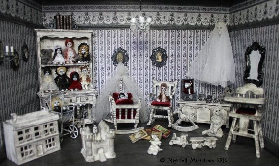 Miniature Children S Bedroom Room Box Diorama: 17+ Best Images About Dark Dollhouses On Pinterest