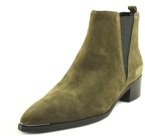 Marc Fisher Yale Women Pointed Toe Suede Green Ankle Boot.