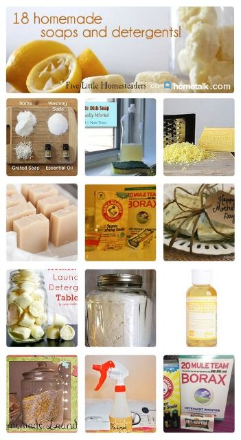 Yay! Natural and homemade soaps and detergents that actually work AND smell great--so awesome!