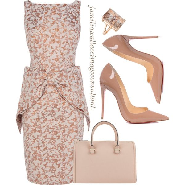 A fashion look from December 2014 featuring Coast dresses, Christian Louboutin pumps and Victoria Beckham tote bags. Browse and shop related looks.