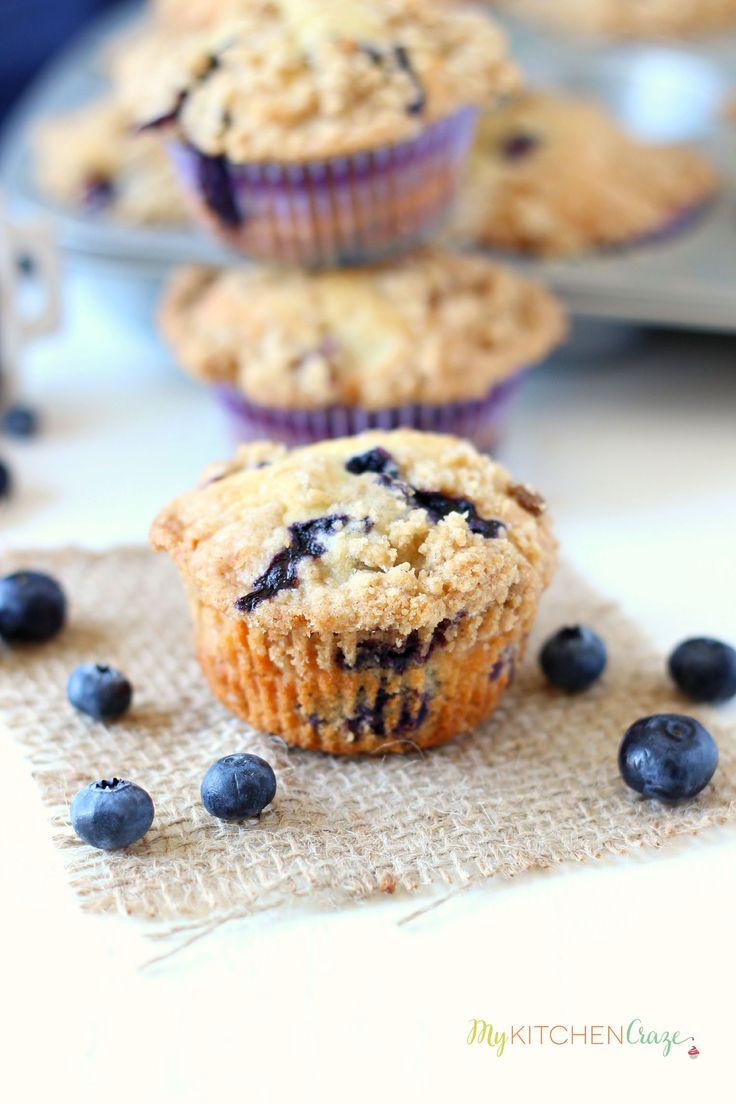 Moist blueberry crumb muffins are the perfect way to start your day! Eat them for breakfast or dessert. Either way they're delicious!