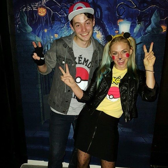 My wife and I enjoyed a very Pokémon Halloween this year. #pokemon #halloween #mywifeishot #costume #party #cosplay