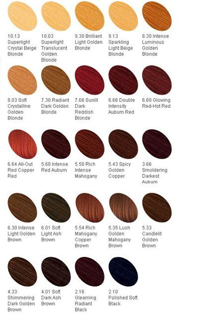 more hair color names for characters.
