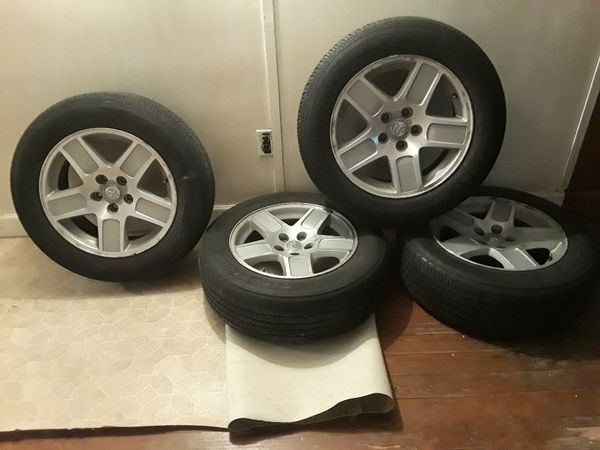 """17"""" rims& tires for Dodge, Chrysler $100.00, there rims & tires are located in Jersey City"""
