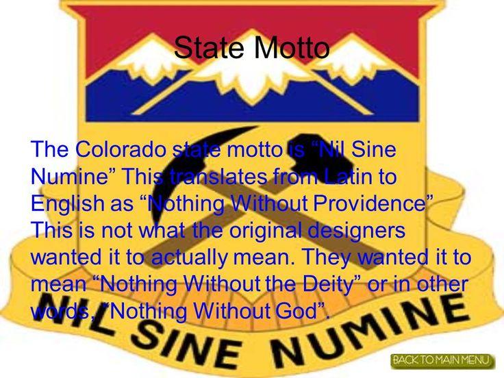 Colorado State Motto