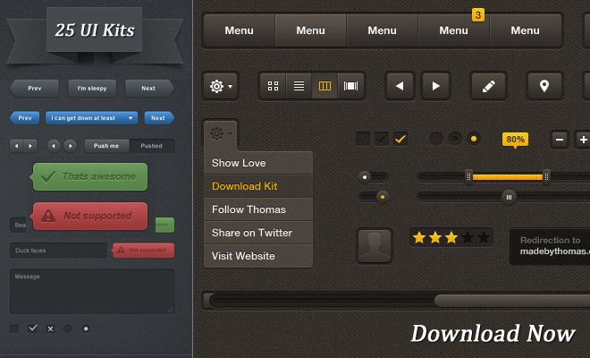 25 Free High Quality User Interface PSD Source files for Graphic and Web Designers