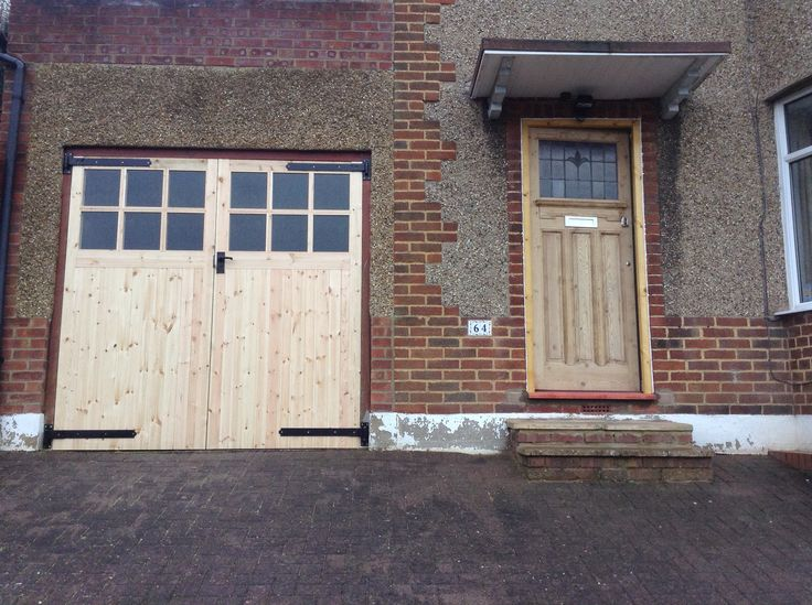 Our reclaimed 1930s front door and new garage doors for for Reclaimed upvc doors