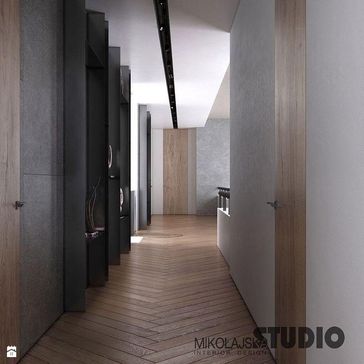 szarość w korytarzu - zdjęcie od MIKOŁAJSKAstudio - Hol / Przedpokój - Styl Nowoczesny - MIKOŁAJSKAstudio