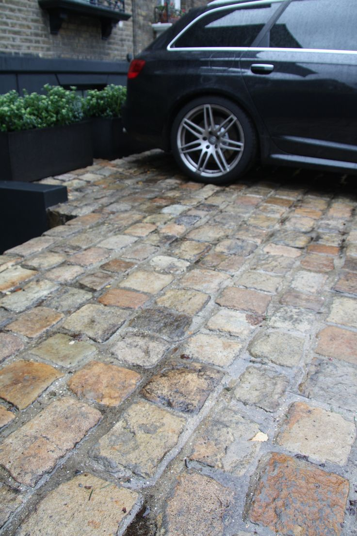 Front driveway project for client in Hackney. Broke out the old concrete and relaid these lovely, old reclaimed cobbles.  Looked gorgeous!....all the passers by loved it!!