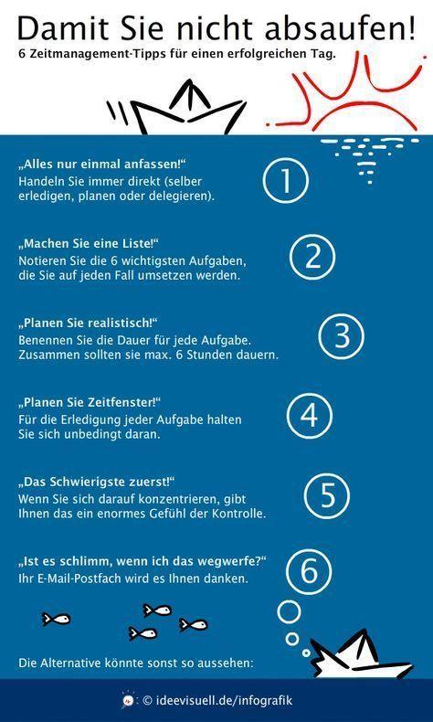 """Zeitmanagement-Infografik: """"6 Tipps, damit Sie nic…"""