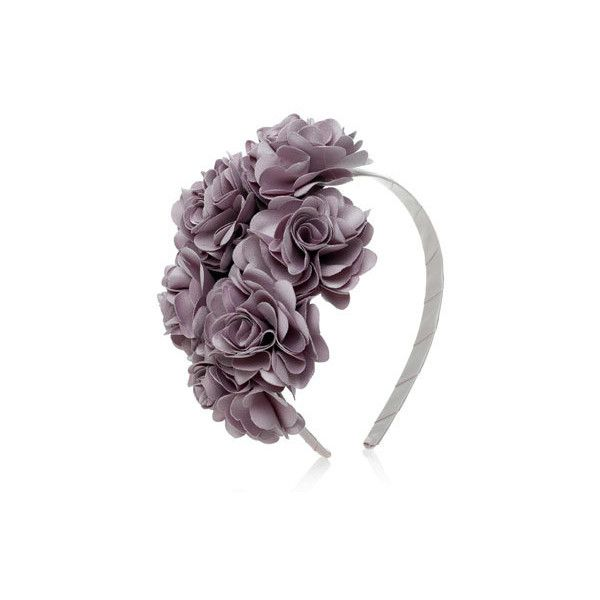 Silky Carnation Bouquet Alice Band ($23) ❤ liked on Polyvore featuring accessories, hair accessories, headbands, hair, hats, alice bands, head wrap hair accessories, hair band headband, headband hair accessories and hair bands accessories