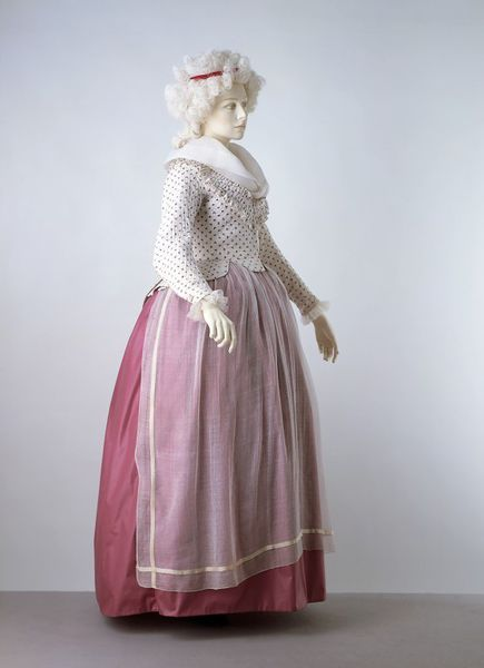 1785 - 1790, French, Printed linen, quilted, lined with linen Victoria & Albert Museum