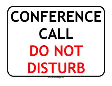 This Do Not Disturb Sign Is For People Who Are Busy On A