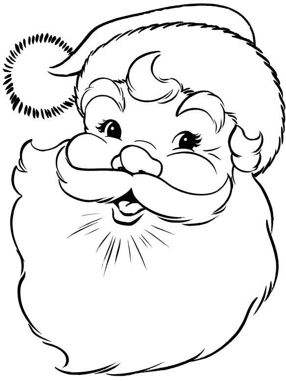 25 unique Santa face ideas on Pinterest  Santa coloring pages