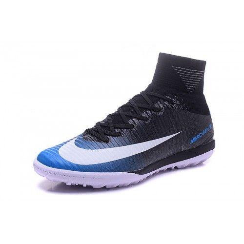 Discount Buy Nike MercurialX Proximo II TF Black Blue Football Boots Online