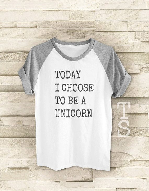 Today I Choose to be a Unicorn shirt workout tumblr by teesmile (medium or large)