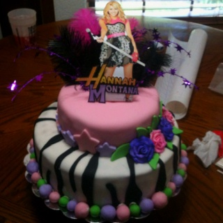 Hannah Montana cake I made
