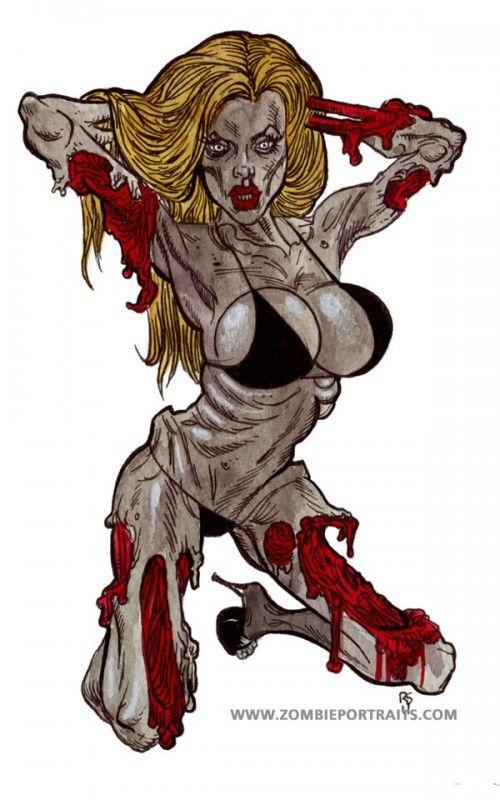 zombie pin ups zombie girls