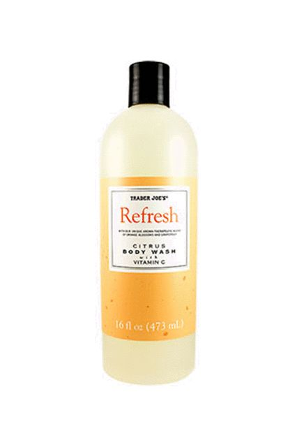 16 Trader Joe's Beauty Products That Are Actually Amazing #refinery29  http://www.refinery29.com/best-trader-joes-beauty-products#slide-1  This body wash smells sweeter than a freshly-picked orange — and it's full of vitamin C to nourish your body, too.Trader Joe's Refresh Citrus Body Wash, $2.99, available at Trader Joe's locations. ...