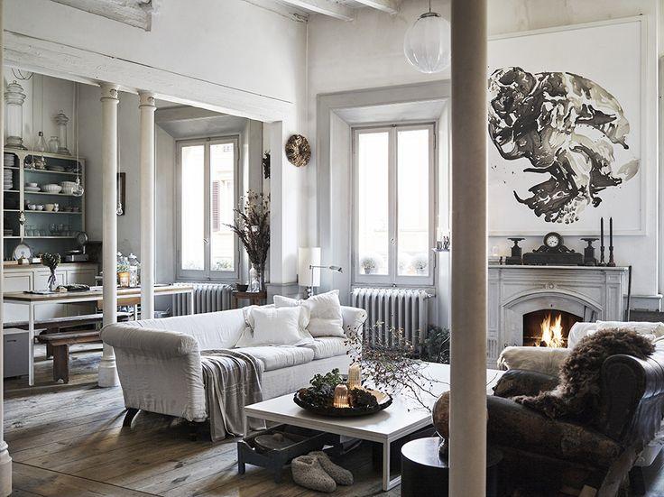 Oltre 25 fantastiche idee su soggiorno open space su - Dividere soggiorno e cucina ...