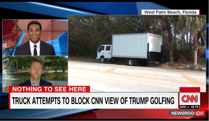 LOL: CNN gets TRIGGERED after Trump orders giant truck to block their view