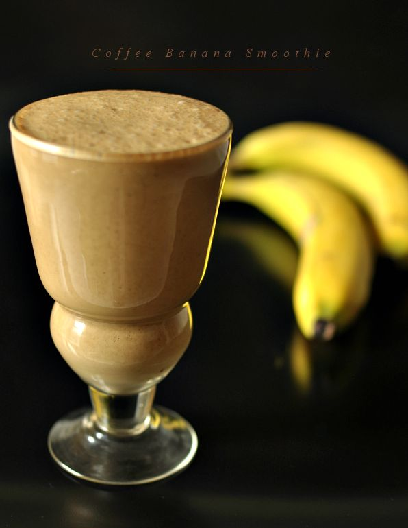 Coffee Banana Smoothie 3/4-1 cup fresh brewed coffee, cooled 1 medium banana 1 -2 tablespoon honey (or sugar, to taste) 2 ice cubes 1 1/2 cups yogurt 1 teaspoon cinnamon