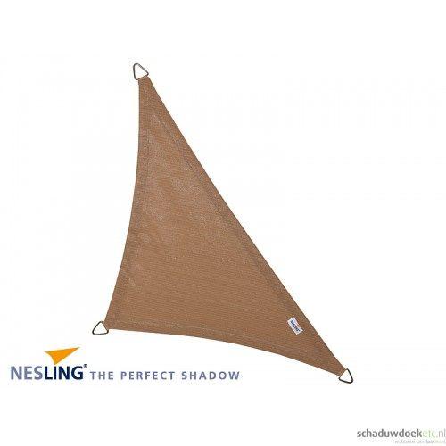 Nesling Schaduwdoek Driehoek 90° 5,0 m Zand - Koop online bij Schaduwdoeketc.nl