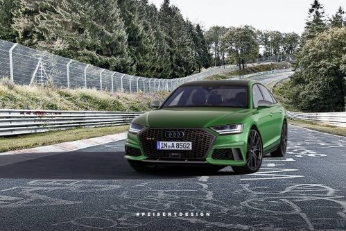 Rendered: Audi RS8 looks fit for a new Transporter movie