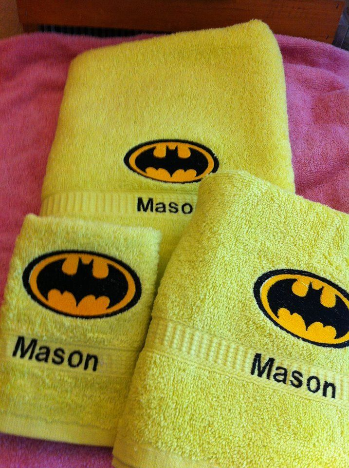 Batman design embroidered at towel - Cartoon embroidery - Gallery - Machine embroidery forum