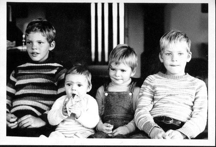 4 brødre. Lars Bo, mig, Søren, Niels. Ringkøbing 1972