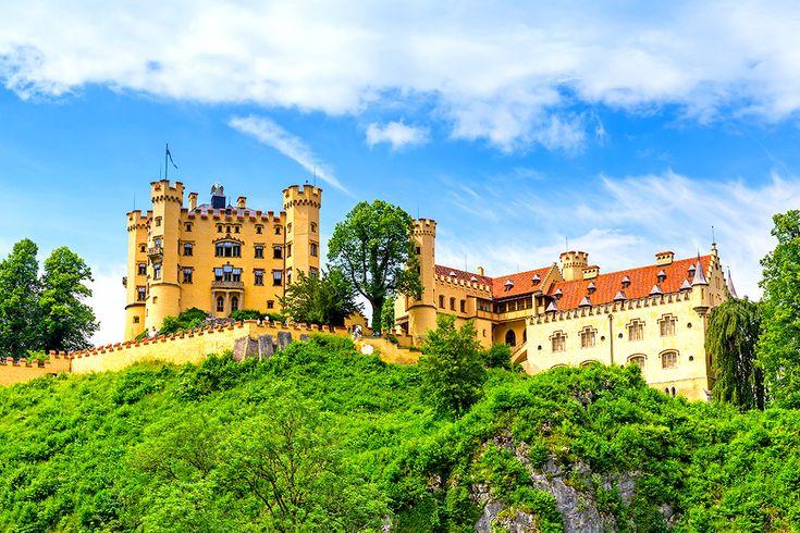 Slottet Hohenschwangau i Tyskland #hohenschwangau #slott #castle #tyskland #germany