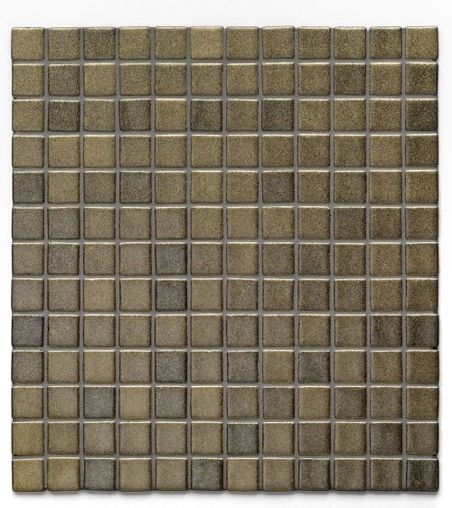 Loft Scorpio - Bronze metallic-finish glass mosaic. Chip size 2.5x2.5cm.