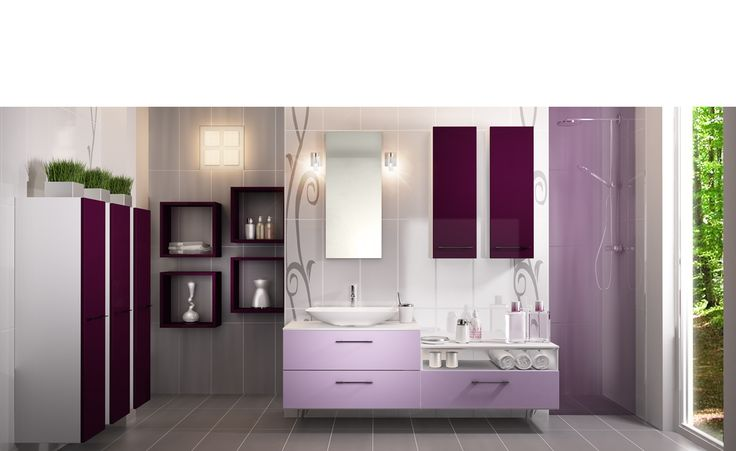 salle de bains sur mesure soft lilas loft soft lilas un caract re f minin singulier la. Black Bedroom Furniture Sets. Home Design Ideas